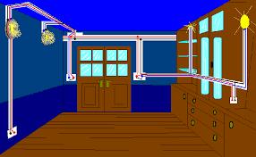 Se observan las canalizaciones y tuberías eléctricas en una casa