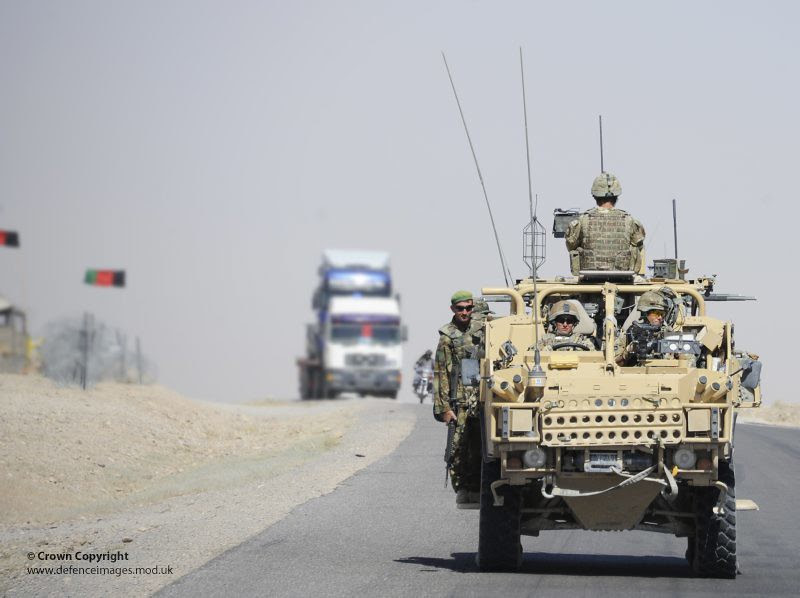 9th/12th Lancers in Jackal Vehicle During Patrol on Highway One, Afghanistan