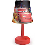 Philips Disney Cars Indoor Portable 10 Inch Kids Table Lamp with Shade, Red by VM Express