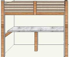 Free Loft Bed Plans on Pinterest