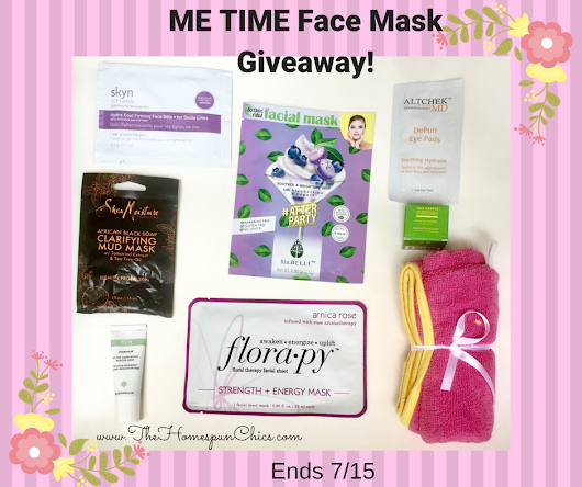 ME TIME Face Mask Giveaway! Ends 7/15 | The Homespun Chics