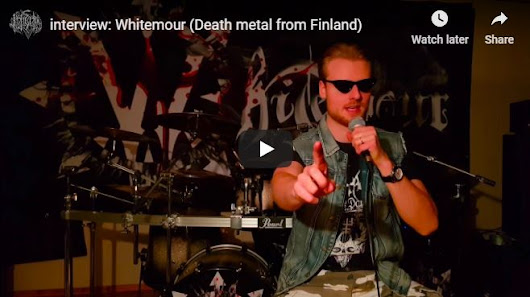 interview video: Whitemour (Death metal from Finland)