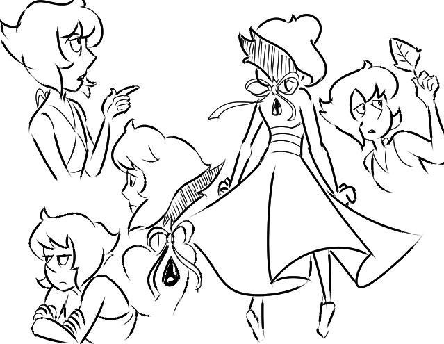 scribbling Lapis while on the phone at work