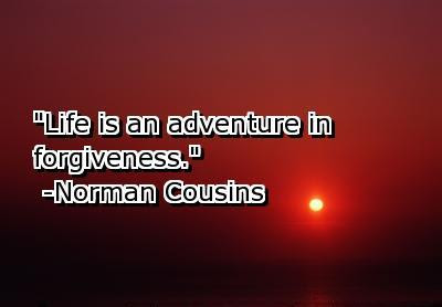 Life Is An Adventure In Forgiveness Forgiveness Quote