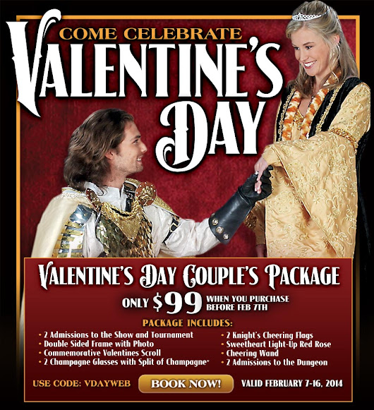 HEAR YE! MEDIEVAL TIMES DINNER & TOURNAMENT CELEBRATES VALENTINE'S DAY WITH SPECIAL COUPLE'S PACKAGE Celebrate Your Love with a 'KNIGHT' to Remember at Medieval Times