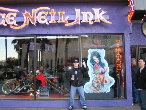 Vince Neil Tattoo Shop Las Vegas Christmas 2007 Photos From Damian