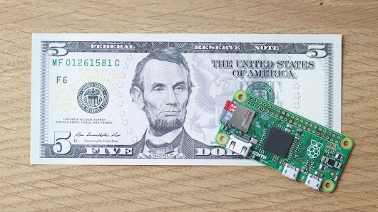 Today I'm thankful for Raspberry Pi and its $5 Zero computer