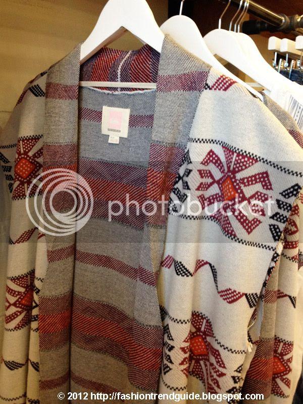 Quiksiver tribal print poncho