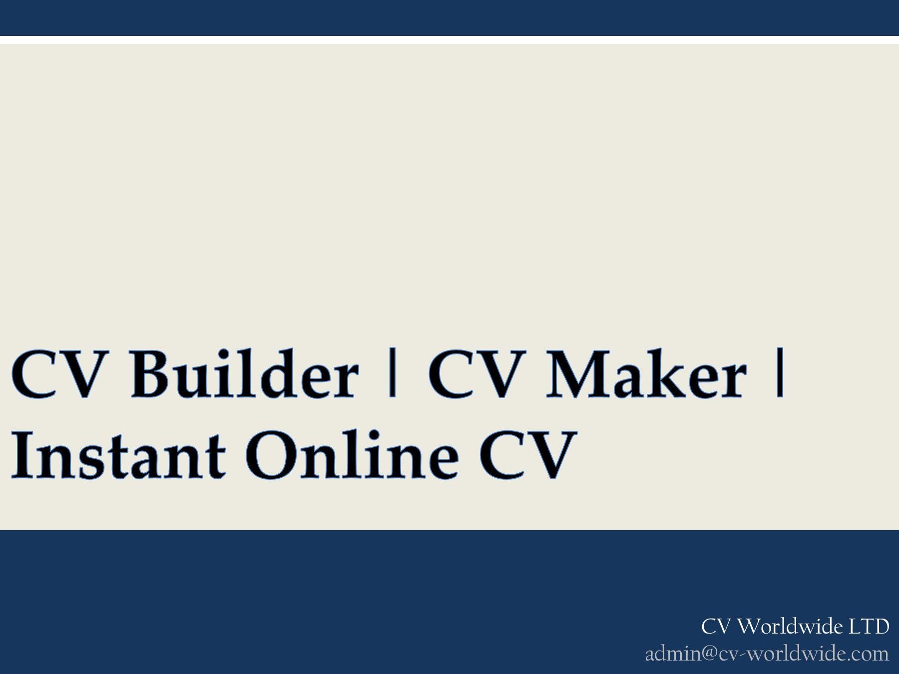 Cv Maker Uk
