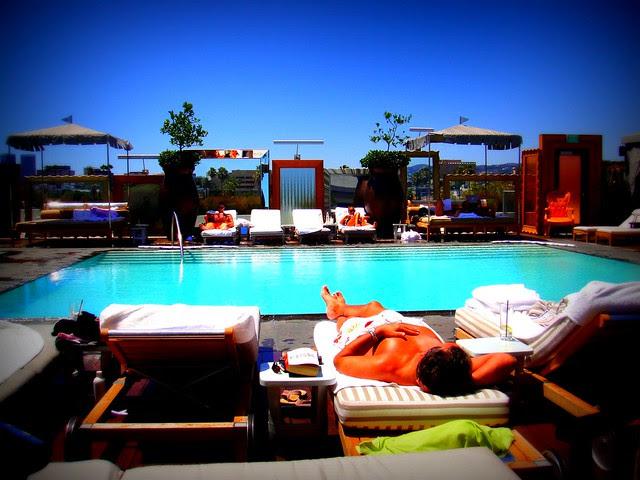 SLS Hotel Los Angeles Roof Pool