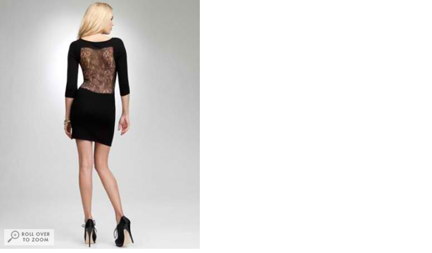 Bebe Lace Cutout Sweater Dress