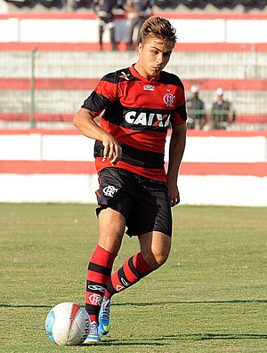 Igor Sartori em ação no primeiro jogo da final do Carioca Sub-20 (Foto: Fla Imagem)