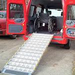 "Roll-A-Ramp 36"" Wide Manual Bi-Fold Van Ramp System, 8' Ramp Length"