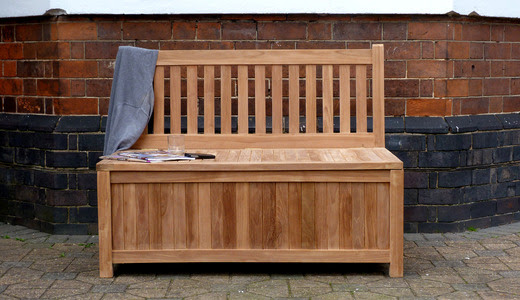 Windsor Teak Garden Storage Bench 120 Cm