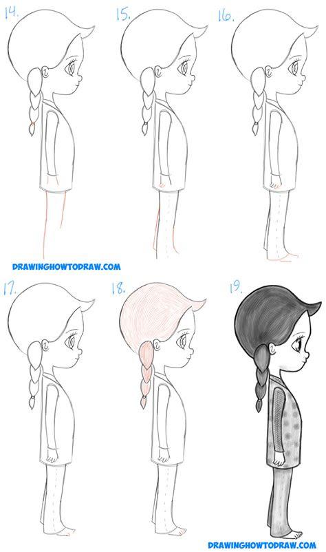 draw  cute chibi manga anime girl