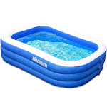 "Homech Family Inflatable Swimming Pool, 120"" X 72"" X 22"" Full-Sized Inflatable Lounge Pool for Baby, Kiddie, Kids, Adult, Infant, Toddlers for Ages 3+"