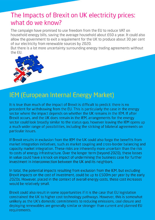 Exled - The Impacts of Brexit on UK electricity prices - Page 1