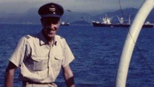 Teniente de vuelo a bordo de José Pasquini HMNZS Pukaki