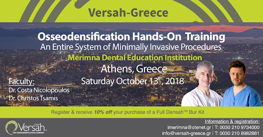 OSSEODENSIFICATION One-Day of Didactic Learning and Hands-On Clinical Simulation