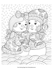 winter coloring pages • free printable pdf from primarygames