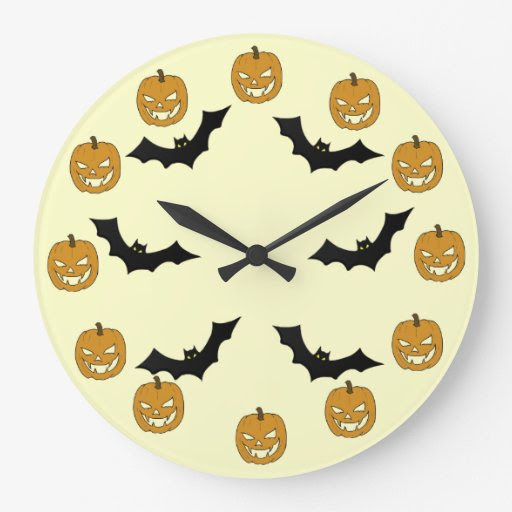 Jack O'lantern Nursery Wall Clocks