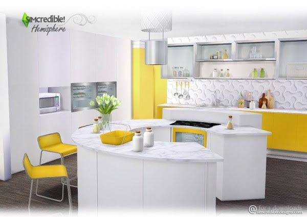 SIMcredible Designs: Hemisphere kitchen • Sims 4 Downloads