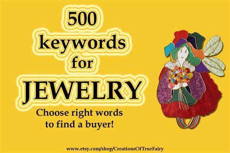 1580 Jewelry keywords Top etsy keywords Search