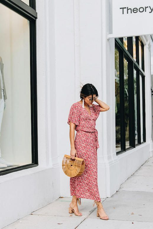 Le Fashion Blog Sunglasses Red Midi Dress Lasercut Bag Strappy Sandals Via The Girl From Panama