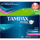 Tampax Pearl Super Scented Tampons - 36 count box
