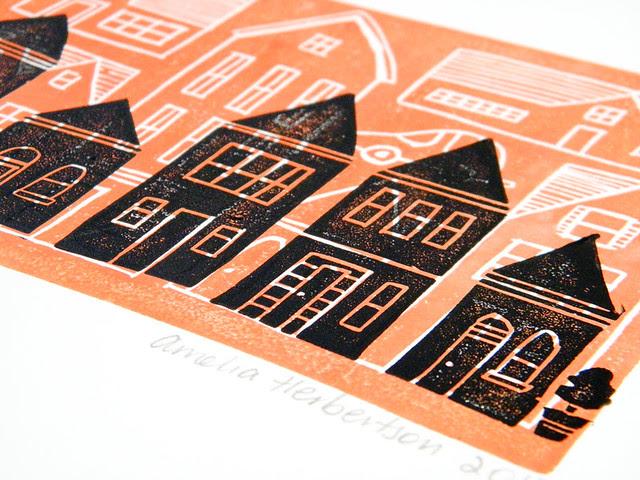 New Linocut Block print