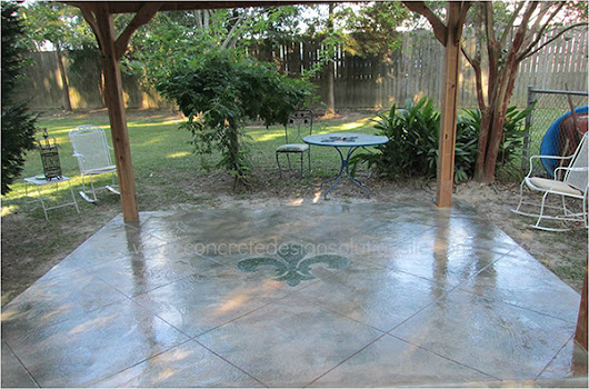 Patios Made Beautiful with Decorative Concrete