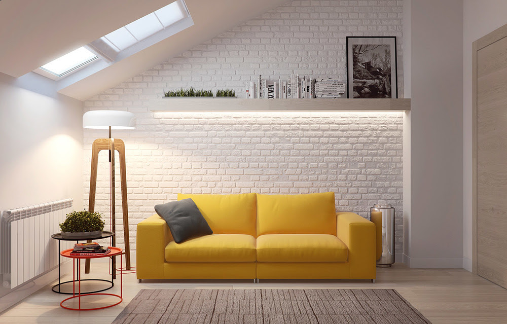 Sunshine Yellow Sofa Interior Design Ideas