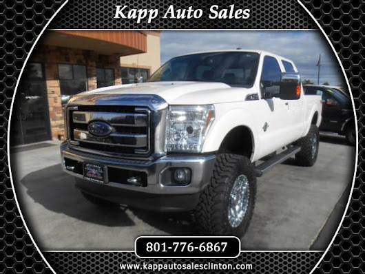 Used 2012 Ford F-350 SD Lariat Crew Cab 4WD for Sale in Clinton UT 84015 Kapp Auto Sales