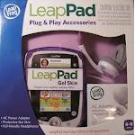 Leap Frog Leappad Plug & Play Accessories Exclusive Purple Gel Skin Ac Adapter And Headphones