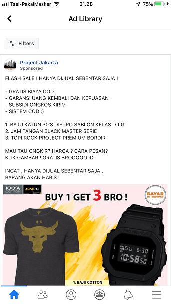 Toko On Line Admiral Authentic Official Store di Lazada & Project Jakarta di FB, Barang Tidak Sesuai Iklannya oleh - sablonbajumurah.xyz