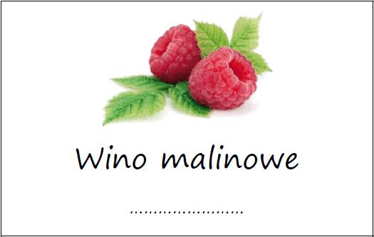 Etykiety Na Wino Malinowe Domowe Przepisy