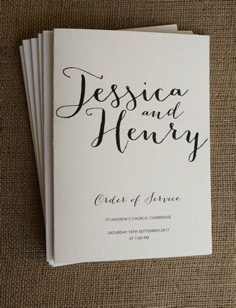 Best 25  DIY wedding order of service ideas on Pinterest