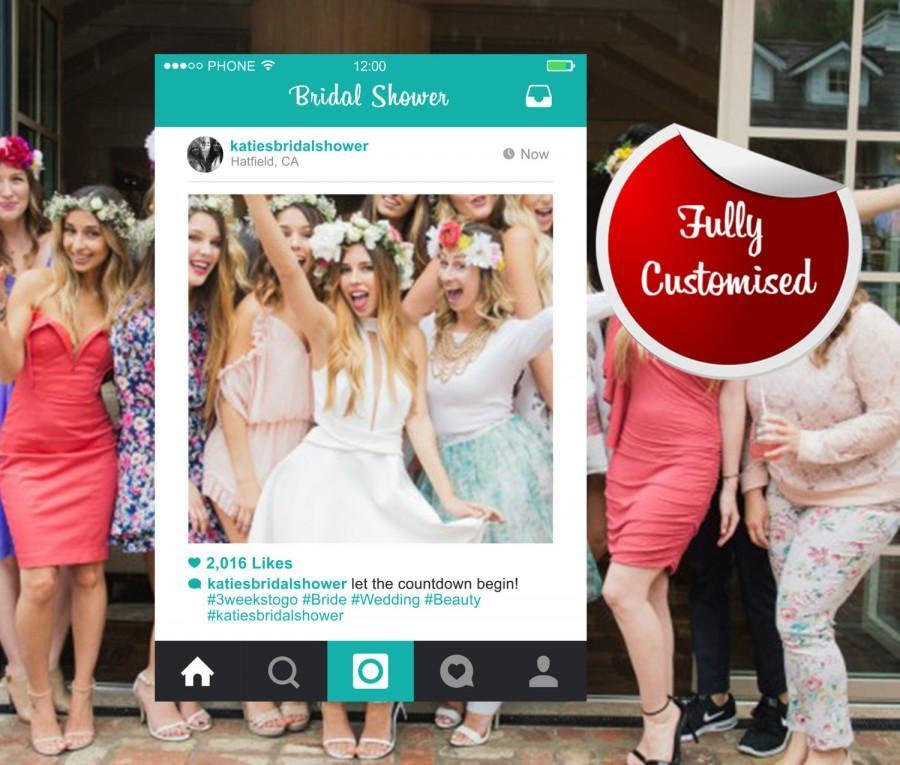 Bridal Shower Instagram Frame Photo Booth Hens Party Bespoke Design