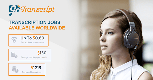 Transcription jobs | $1215 top monthly earnings