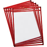 Reble Dry Erase Pockets 10Pk Fluorescent Red - Pacon