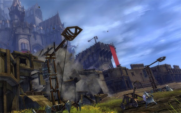 Trebuchets lob death over the battlements of Stonemist Castle, the gigantic central stronghold in the Mists.