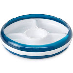 OXO Tot Divided Plate with Removable Ring - Navy
