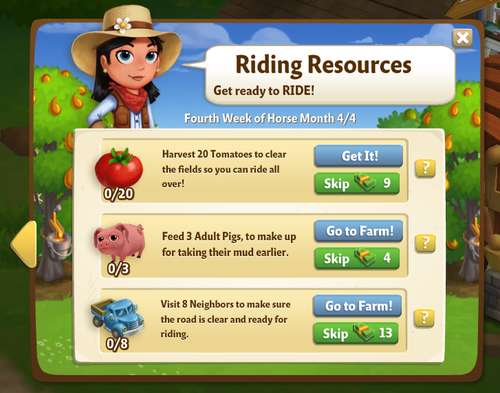 The Trials of Horse Training, Stage 4 - FarmVille 2