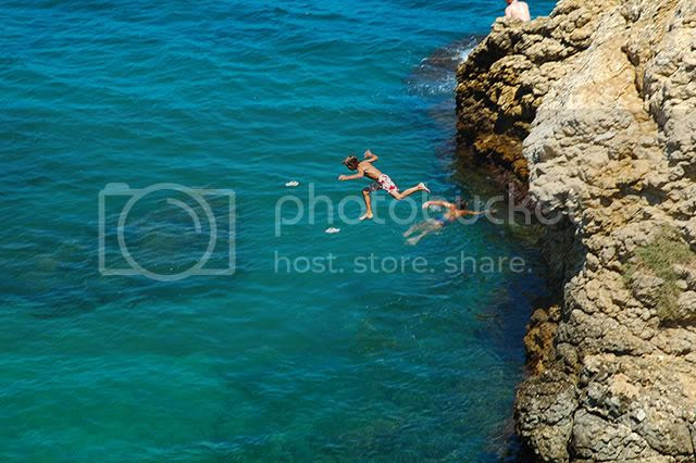 Belly Flop in Costa Brava, Spain [enlarge]