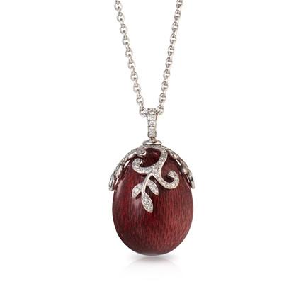 Fabergé Egg Pendant - Oeuf Nina Rouge