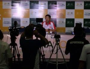 Sérgio China - técnico do América-RN (Foto: Diego Simonetti/Blog do Major)