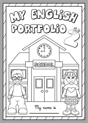 My English Portfolio 2 - Cover (B&W version)