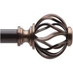 "Loft by Umbra 66""-120"" Cagio Curtain Rod Oil Rubbed Bronze"