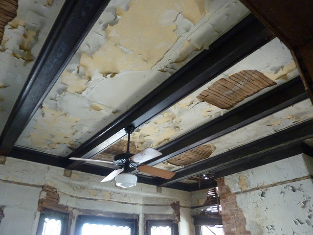 P1170750-2013-03-19--1148-North-Highland -VaHi-Teardown-before-South-Unit-A-parlor-ceiling-beams-east-bay-window