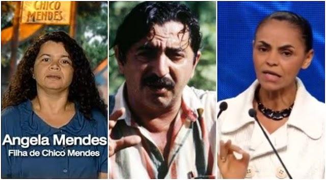 """Filha de Chico Mendes comenta declarações de Marina sobre seu pai e Dispara """"Ela é um enorme ponto de interrogação"""""""